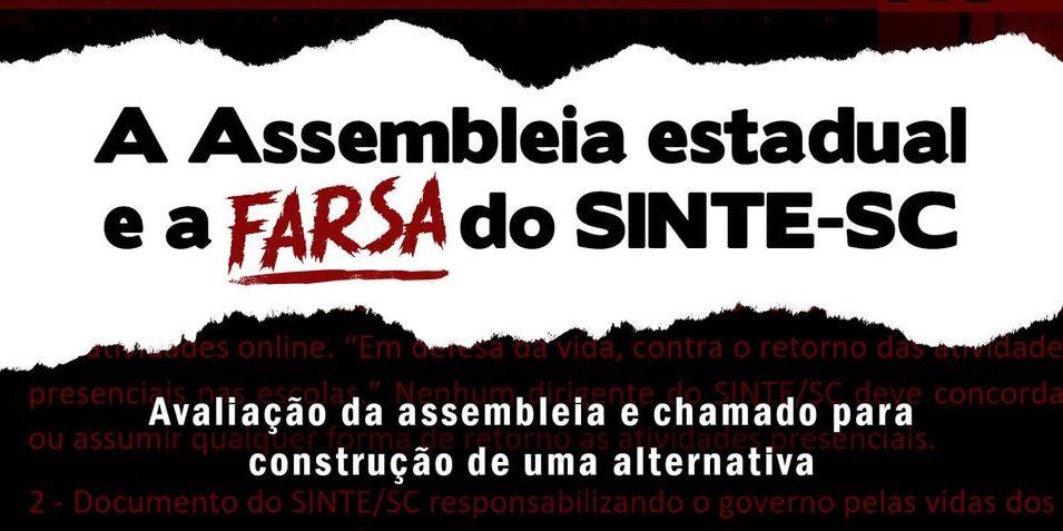 A Assembleia Estadual e a farsa do SINTE