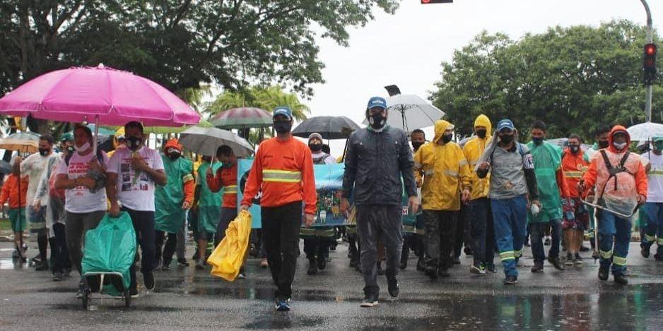 Solidariedade a luta dos trabalhadores da Comcap!